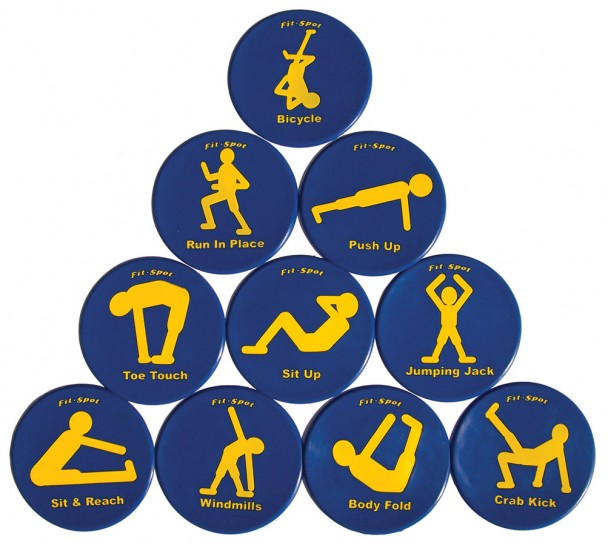 Fitness Spots Set Of 10 Ross Athletic Supply