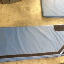 Used 7X14 Blue Pointed Trampoline Corner Pads
